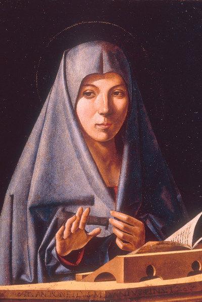 Virgen de la Anunciación, de Antonello da Messina, la obra custodiada por ex sicarios mafiosos en Palermo.