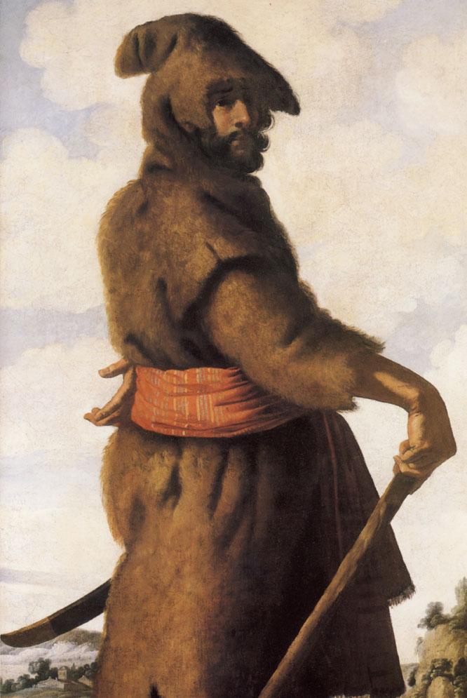 Reproducción de Aser VIIII, de Francisco de Zurbarán.-