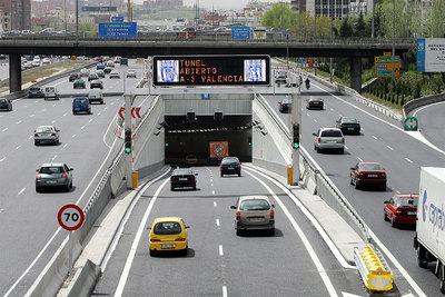 accidente en un tunel de la m-30