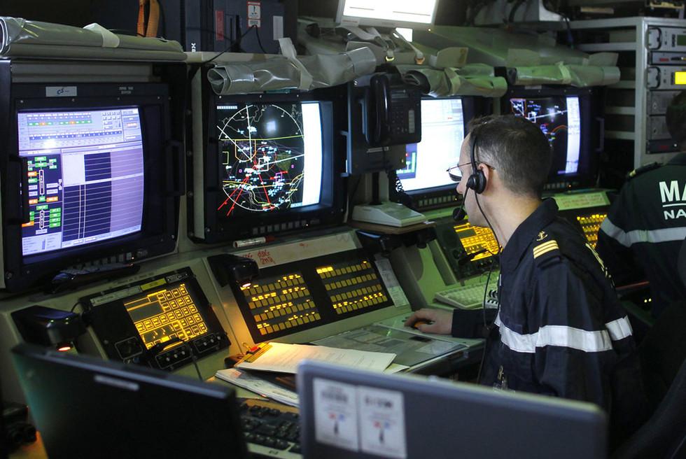 Centro de mando del portaaviones 'Charles de Gaulle'