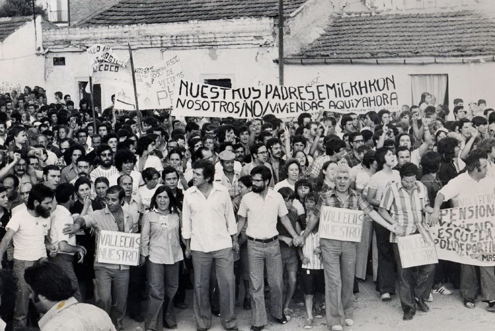 El movimiento vecinal arraigó a inicios de los años setenta en defensa de viviendas dignas.- AA. VV. DE PALOMERAS