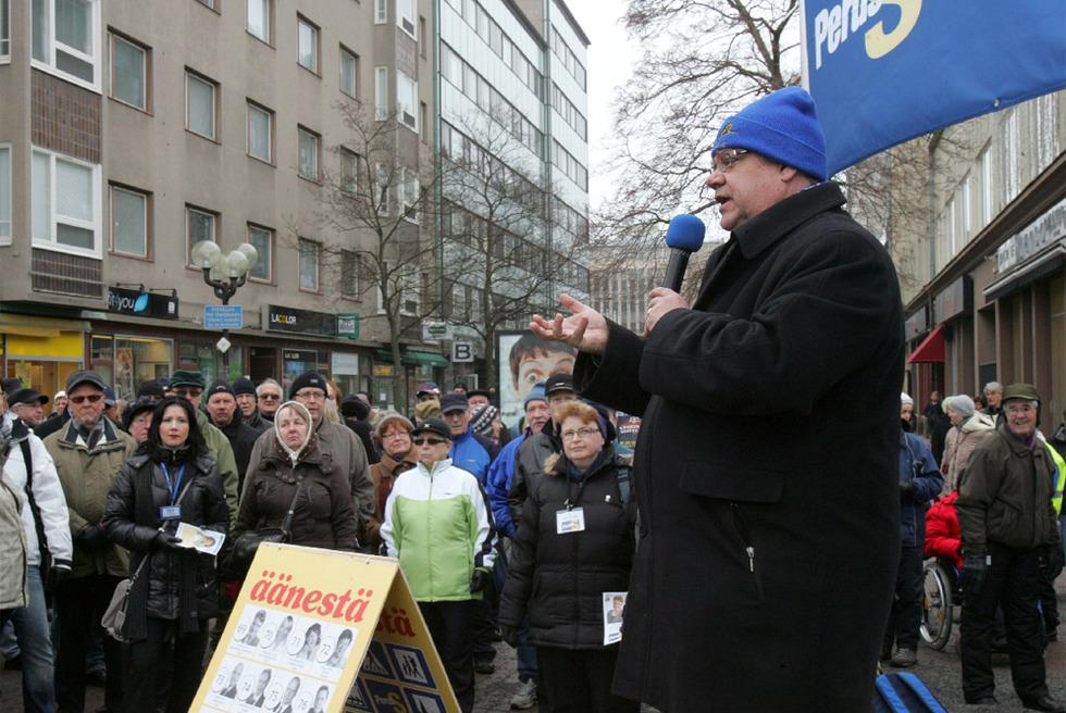 El líder ultraderechista Timo Soini