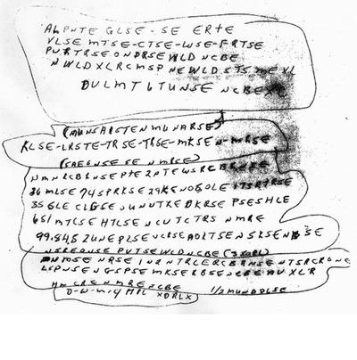 Una de las notas halladas en el cadáver de McCormick