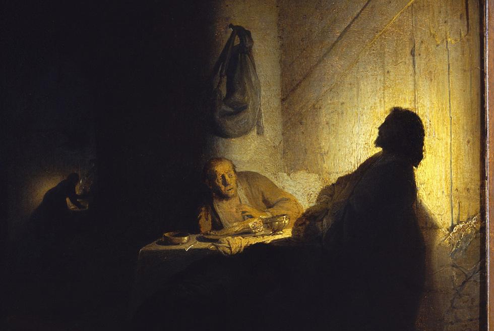 Los peregrinos de Emaus, de Rembrandt, una de las estrellas de la exposición del Louvre.-