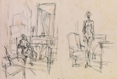 Teriade (1969), dibujo de Alberto Giacometti.