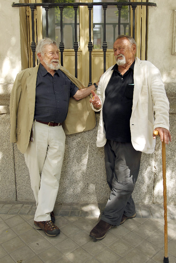 Gary Snyder junto a Jim Harrison