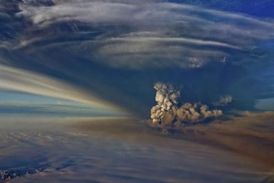 Nube de cenizas del volcán islandés Grimsvotn