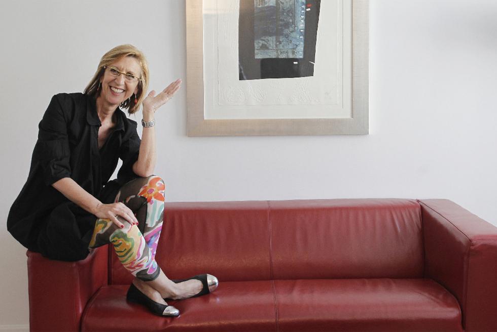 Rosa Díez, ayer en su despacho de la sede de UPyD en Madrid.- LUIS SEVILLANO