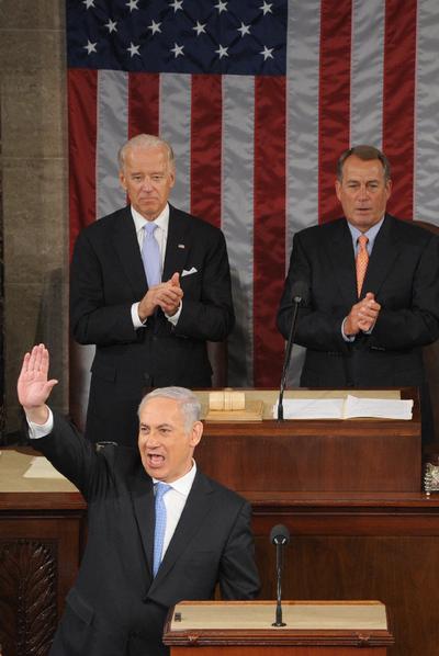 Netanyahu saluda a los senadores