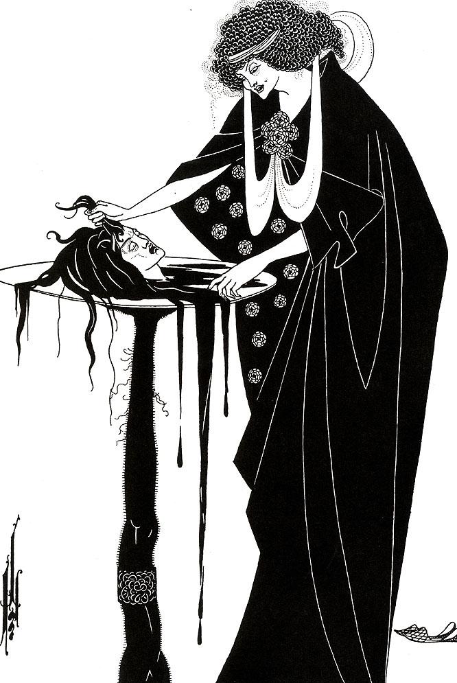 Ilustración de Aubrey Beardsley en Salomé, de Óscar Wilde (Libros del Zorro Rojo).-
