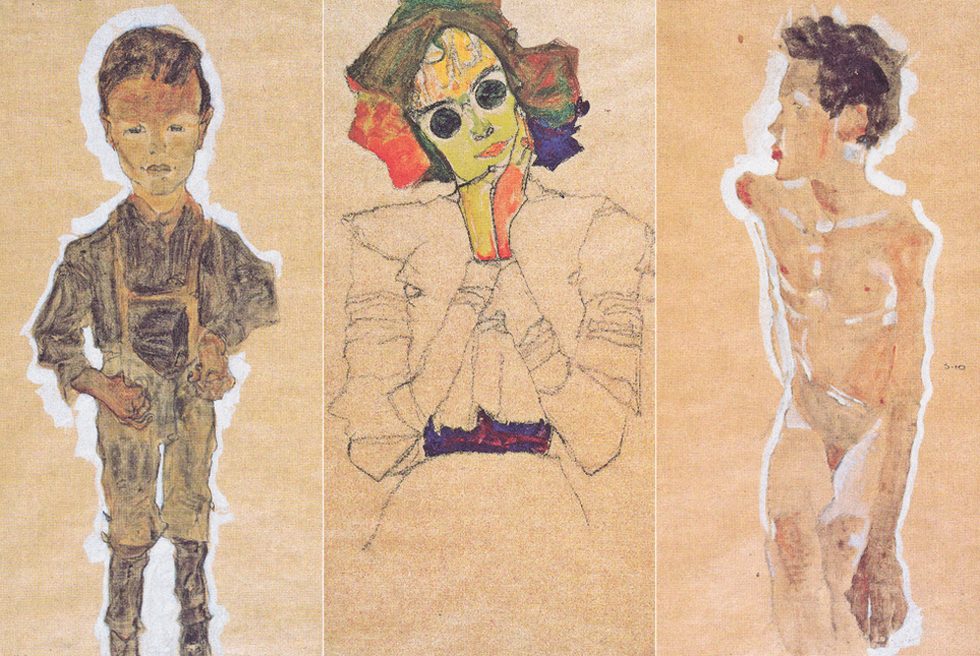 Joven proletario, Chica con gafas de sol y Joven desnudo: tres de los cinco dibujos de Egon Schiele que deberán ser devueltos a la heredera de Karl Mayländer.-