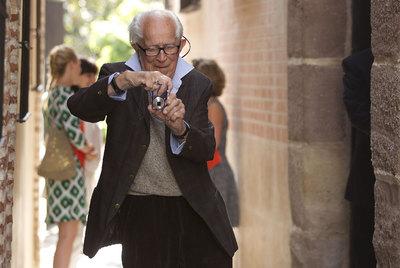El fotógrafo David Douglas Duncan, ayer en Málaga, donde el Museo Picasso le dedica una exposición.- JULIÁN ROJAS