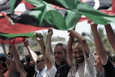 Rebeldes libios en Misrata