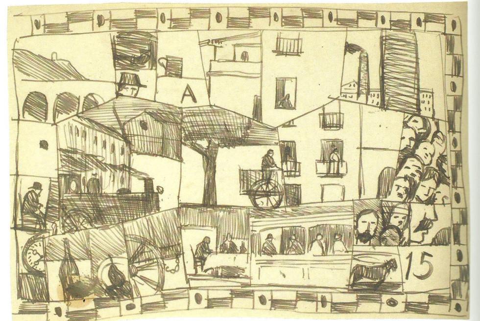 Barcelona 1917, de Torres García.