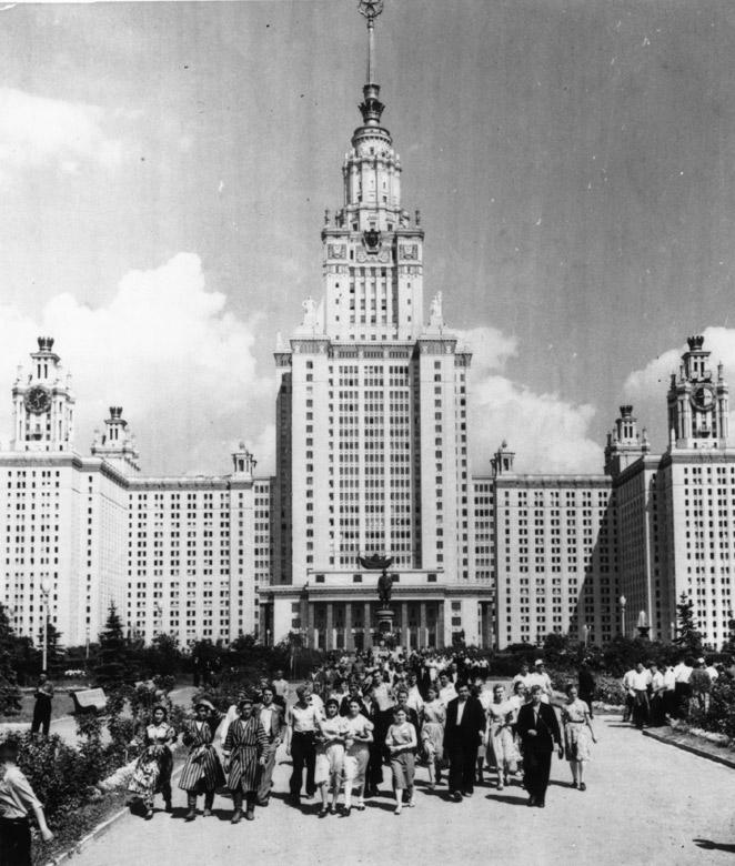 Vista de la Universidad de Moscú tomada en los años cincuenta.- KEYSTONE / GETTY IMAGES