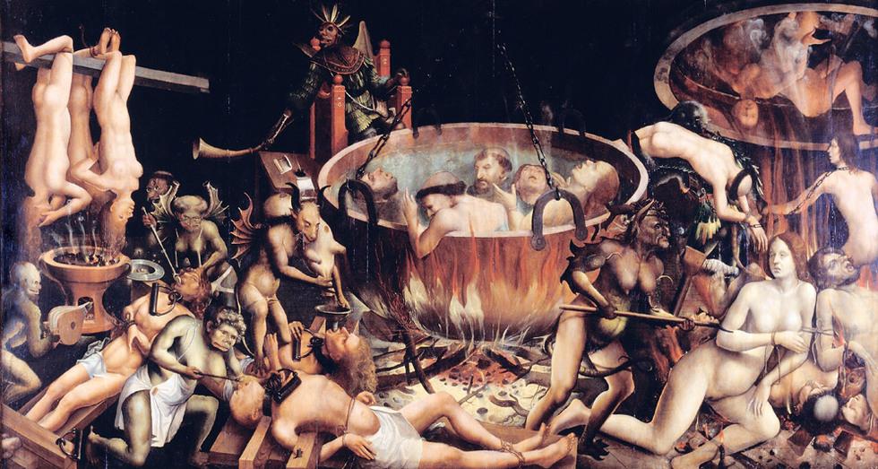 El infierno (1510-1520), de maestro desconocido.-