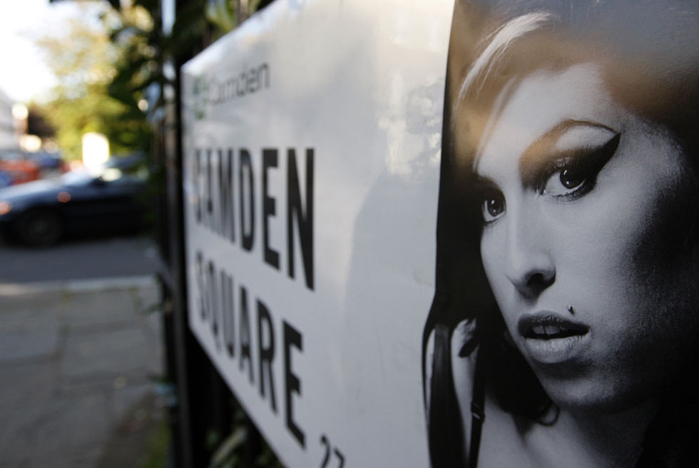 Las placas de las calles cercanas a la casa de Amy Winehouse