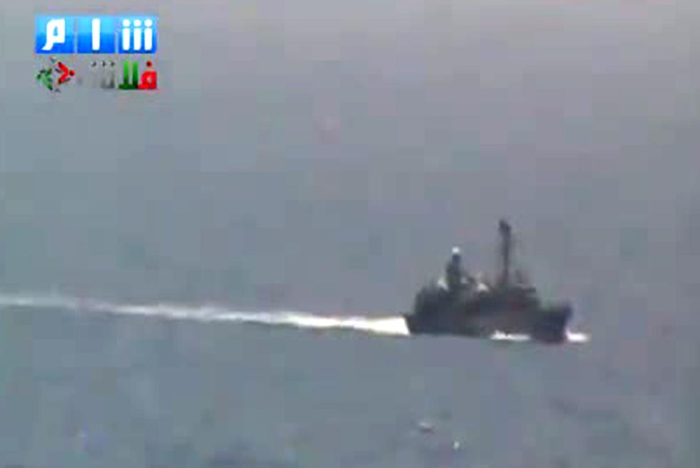 Un supuesto buque de la Armada siria