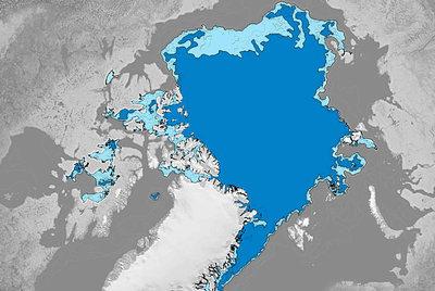 Extensión del hielo en el Ártico