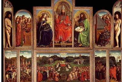 El retablo de la catedral de Gante, de Jan van Eyck- FOTOGRAFÍA DE SCALA / ART RESOURCE