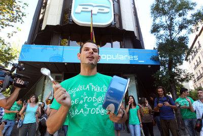 Protestas de profesores contra los recortes