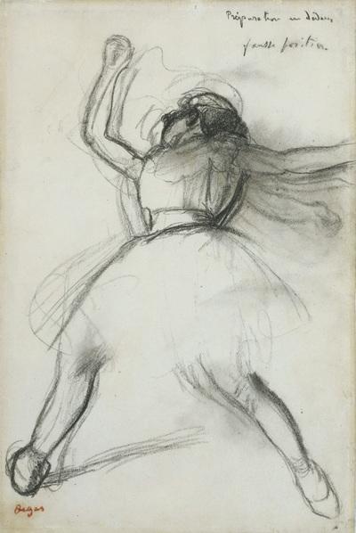 Estudio del cuadro Bailarina (1880-1885). Abajo, Bailarinas, de 1899. Ambas expuestas en la Royal Academy.- EFE