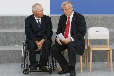 Wolfgang Schaeuble y Jean Claude Juncker