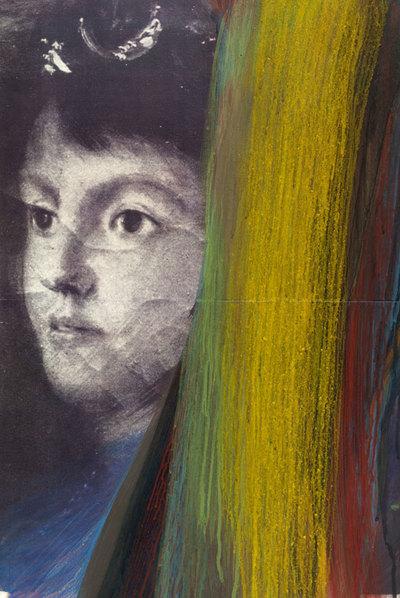 Un acrílico sobre impresión láser por Arnulf Rainer.