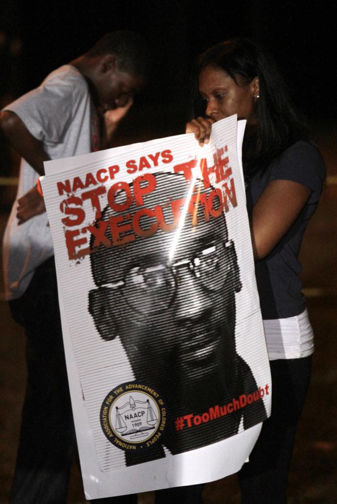 Protesta contra la ejecución de Troy Davis