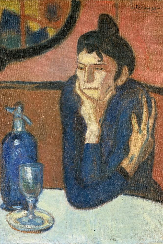 La bebedora de absenta (1901), de Pablo Picasso, una de las obras de El Hermitage en el Prado.-
