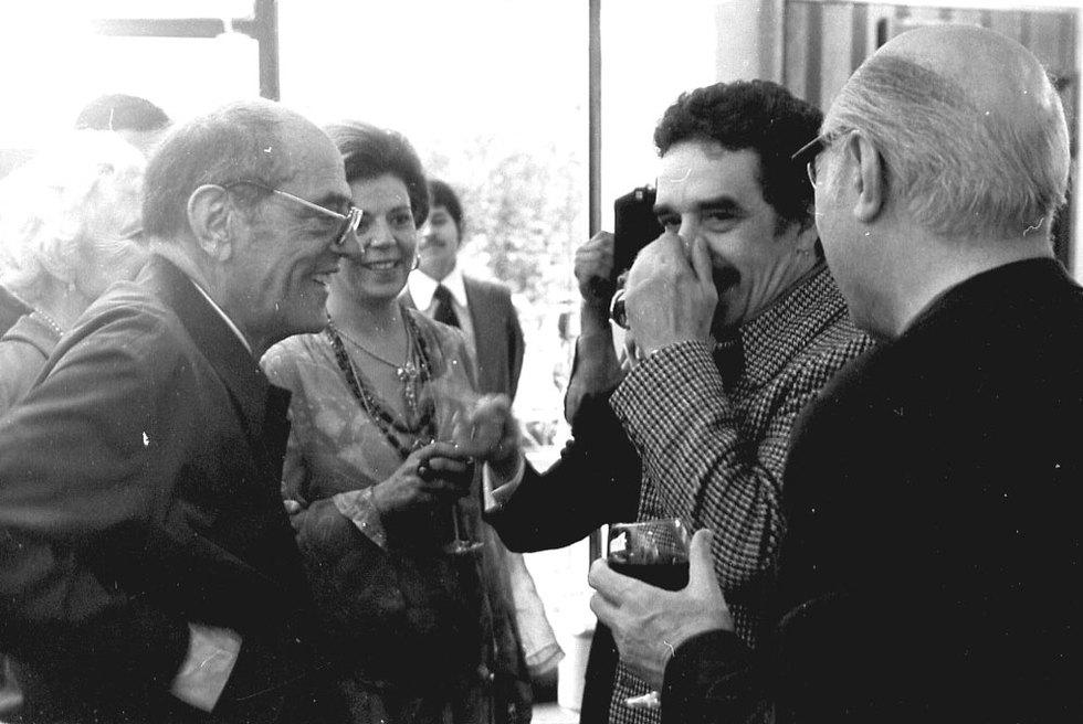 Luis Buñuel con Gabriel García Márquez
