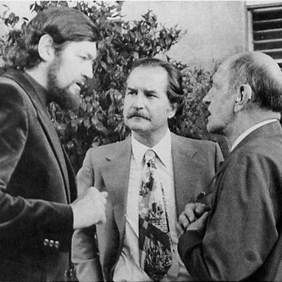 Julio Cortázar, Carlos Fuentes y Luis Buñuel