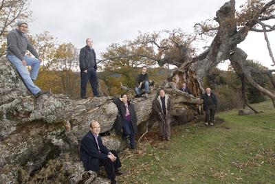 Varios de los implicados en este proyecto de recuperación de montes
