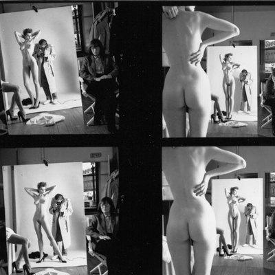 Helmut Newton fotografía a una modelo mientras le observa su esposa, Alice Springs.-