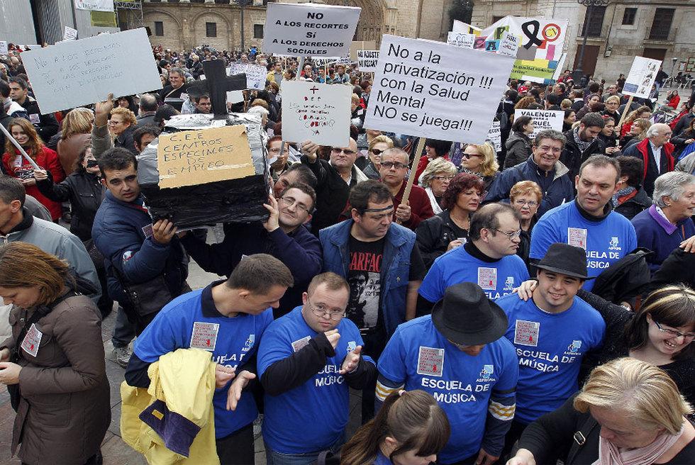 Manifestación contra los recortes en la Ley de la Dependencia