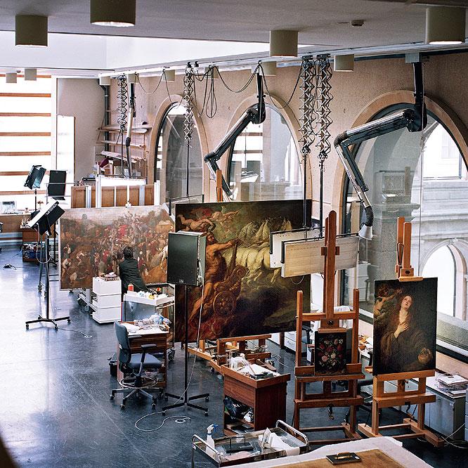 Taller de restauración del Museo del Prado- JAMES RAJOTTE