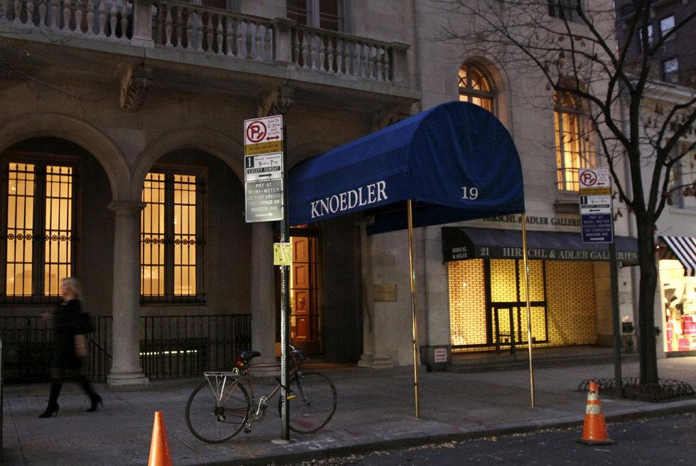Fachada de la galería Knoedler & Company, en la calle número 70 en Manhattan. Anunció su cierre en noviembre tras 165 años de actividad en la ciudad.- TINA FINEBERG (CORDON PRESS)