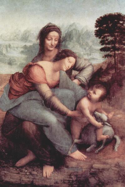 La Virgen, el niño Jesús y Santa Ana, de Leonardo da Vinci