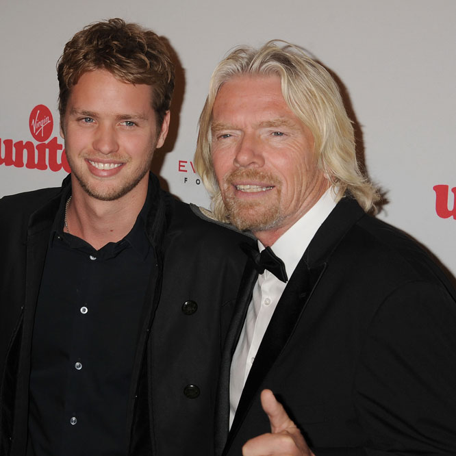Sam y Richard Branson