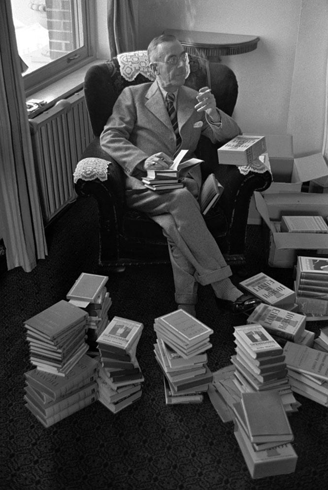 Thomas Mann (Nobel de Literatura en 1929), en 1939
