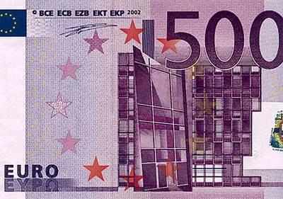 El billete de 500 euros no se puede editar en Photoshop