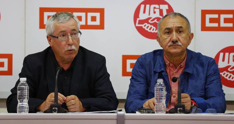 Resultado de imagen de UGT y CCOO Líderes 2017