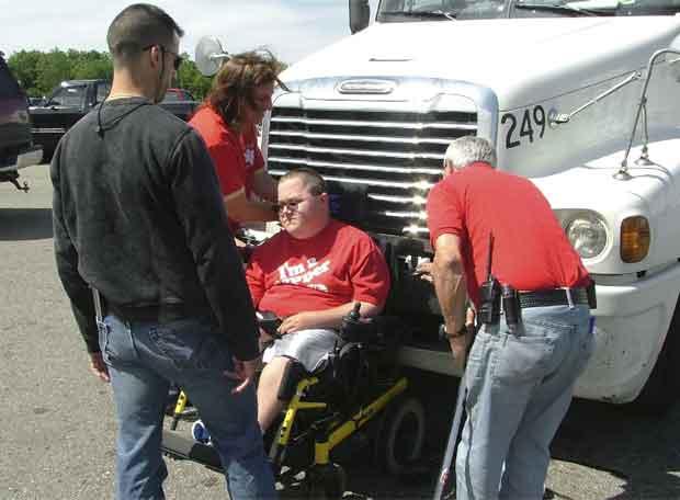 Ben Carperter a 80 kilómetros, sin freno y en silla de ruedas