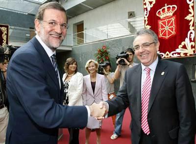 Mariano Rajoy y Miguel Sanz, protagonistas del desencuentro