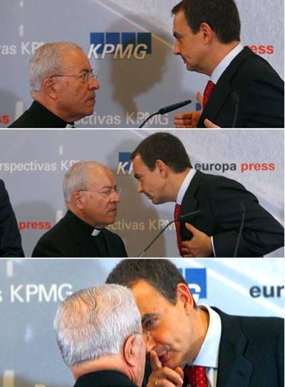 Jose Luis Rodriguez Zapatero habla nuncio Vaticano Manuel Monteiro