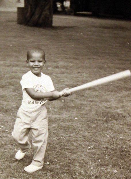 La vida de Obama - Jugando al béisbol