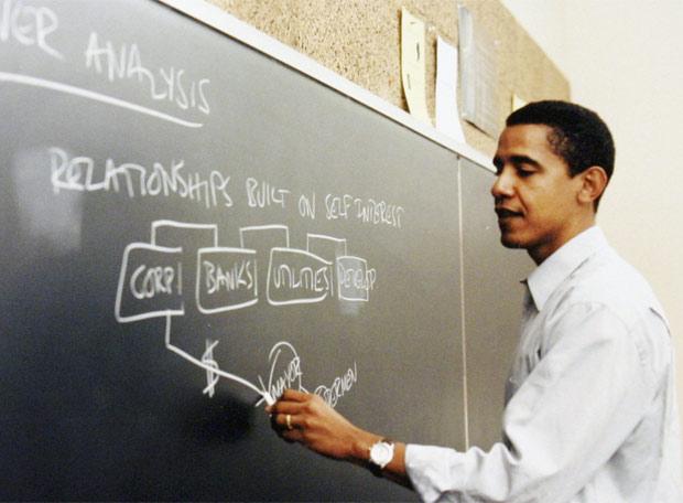 La vida de Obama - Obama, profesor