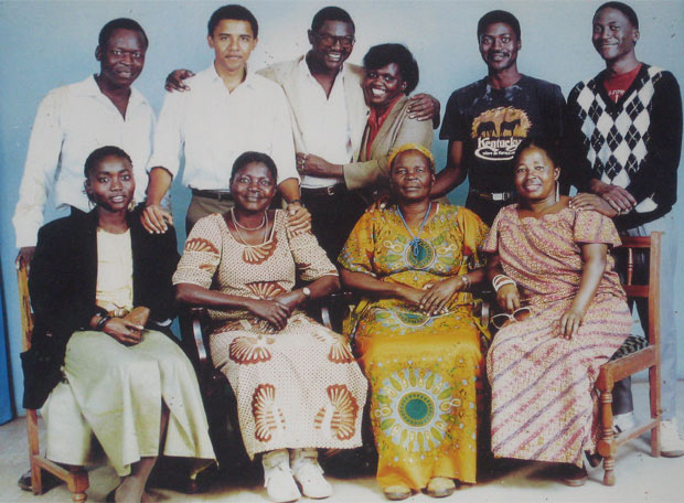 Obama y su familia keniata