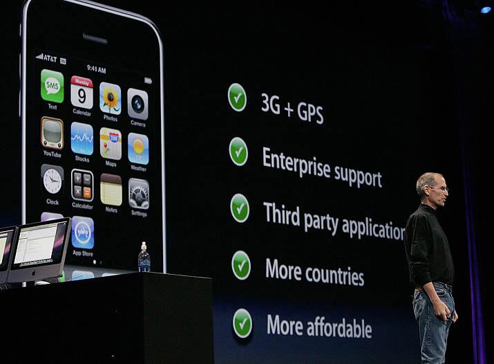 Jobs presenta el iPhone 3G - Más potente y en más países