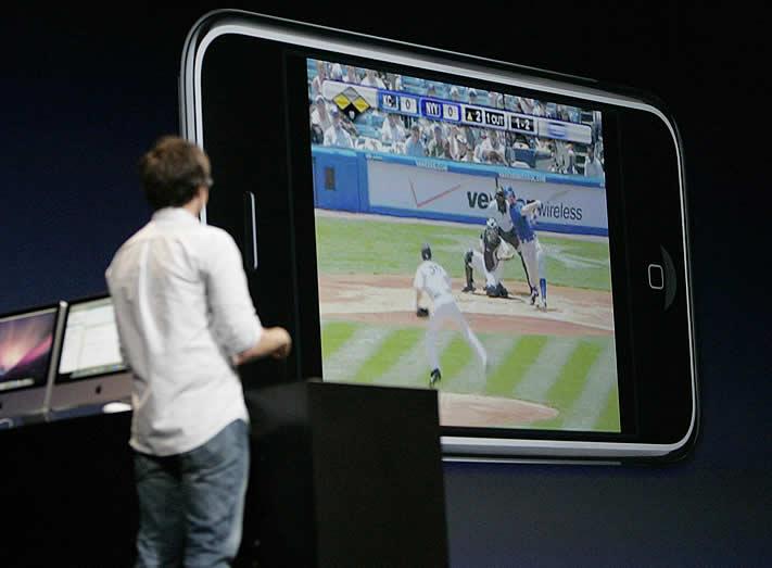 Jobs presenta el iPhone 3G - Calidad de pantalla